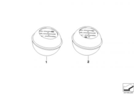 Gear lever knob in body colour