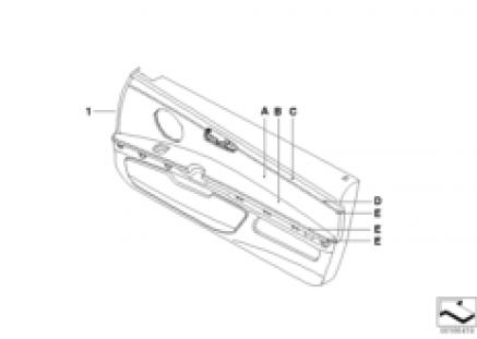 Indiv. door trim panel, partial leather