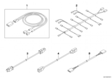 Main harness, extra audio components