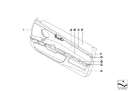 Individual door trim, all-leather