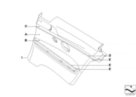 Indi. side panel, leather, KA 335