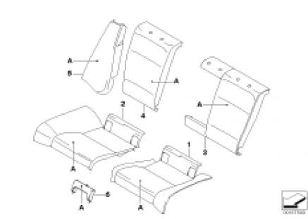 Ind.through-loading sys. rear basic seat