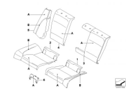 Individual Loadthrough Sport seat, rear