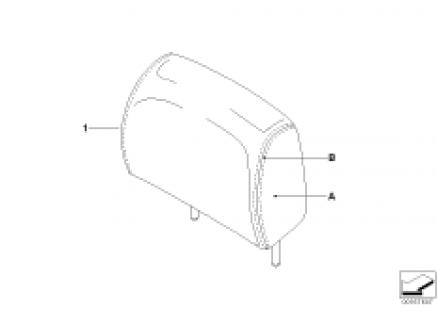 Indv. headrest, basic seat, rear