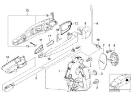 Door mechanism rear (up to 09/00)