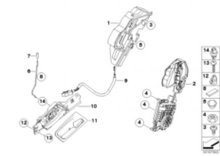 Closing system, door, rear, II