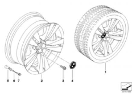 BMW LA wheel, double spoke 278