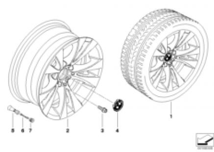 BMW LA wheel, V-spoke 277