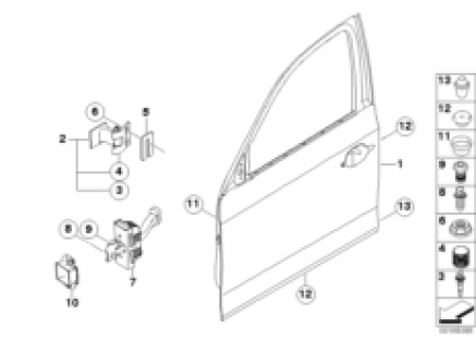 Front door-hinge/door brake
