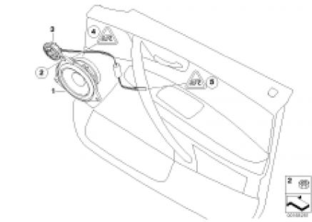 Single parts f front door top-hifi syst.