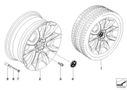 BMW light alloy wheel, V-spoke 257