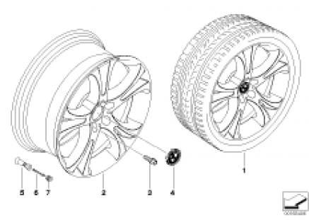 BMW LM Rad Doppelspeiche 275