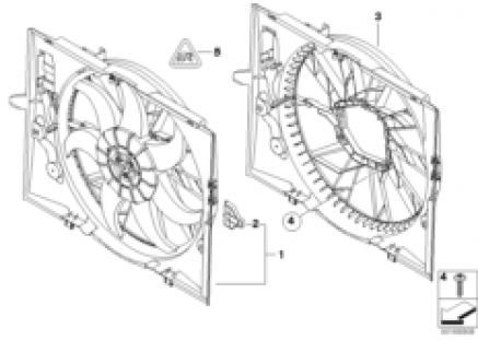 Fan shroud/fan
