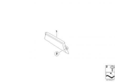Door inside handles, carbon