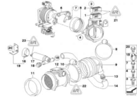 Secondary throttle housing tube ASC