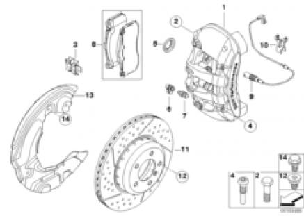 BMW Performance front wheel brake