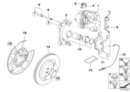 BMW Performance Rear wheel brake