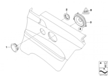 Indiv. parts for loudspeaker in s.panel