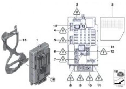Control unit, fuse box, SPEG