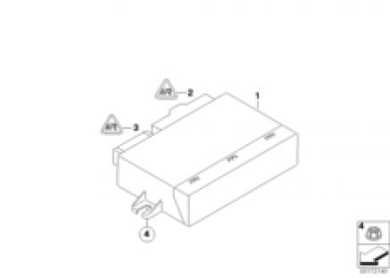 Control unit for convertible top module