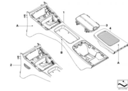 Individual console, rear