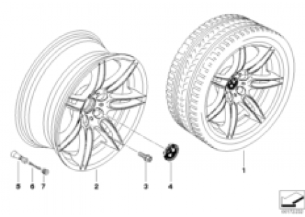 BMW LA wheel, double spoke 288