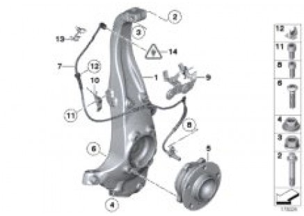 Carrier / wheel bearing, front