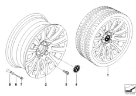 BMW LA wheel, multispoke 282