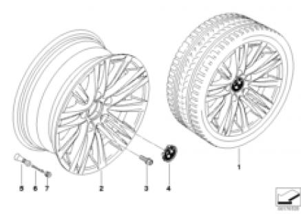 BMW LA wheel, star spoke 283