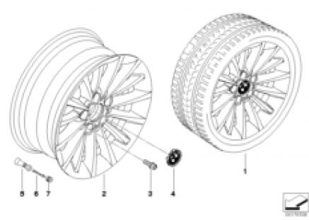 BMW LA wheel, multispoke 284