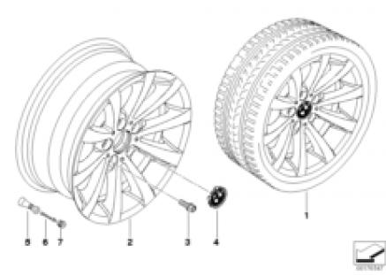 BMW LA wheel, V-spoke 285