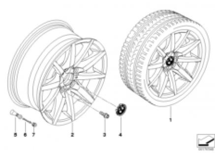 BMW LA wheel, star spoke 286