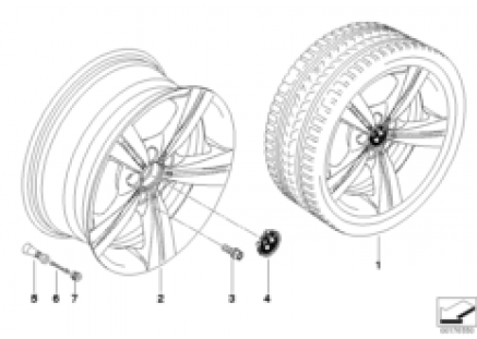 BMW LA wheel, star spoke 287