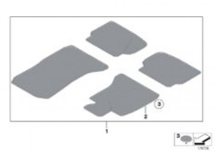 Floor mats, velours