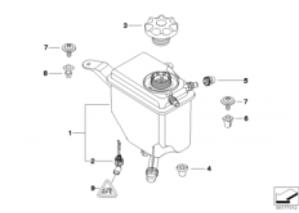 Cooling water expansion tank