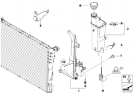 Expansion tank, manual transmission