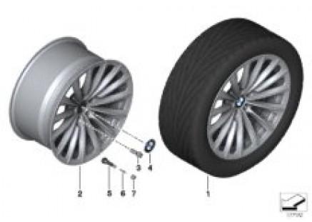 BMW LA wheel Radial Spoke 252 - 19''
