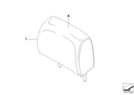 Individual head restraint, rear, LC