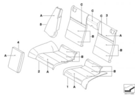 Individual seat, rear, LC