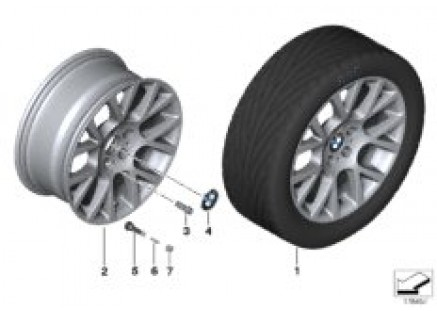 BMW LA wheel Double Spoke 238 - 18