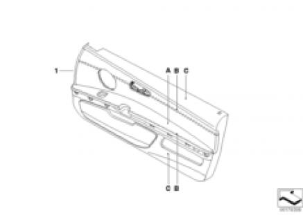 Individual door trim, part leather LC