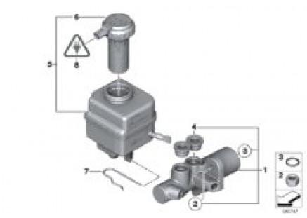 Brake master cylinder/expansion tank