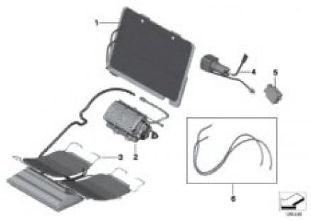 Seat, front, lumbar Active seat