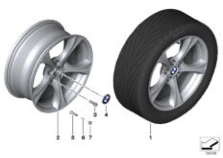 BMW LA wheel Star Spoke 276 - 17