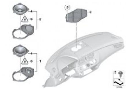 Loudspeaker, instrument panel