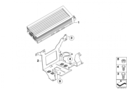 Amplifier/bracket Indi. Audio System
