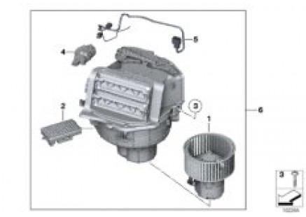 Blower unit / mounting parts