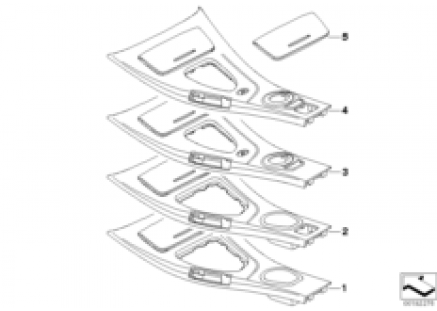 Center console storing partition