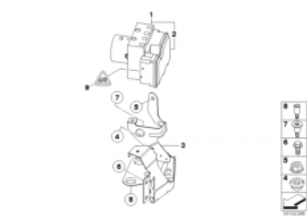 ABS hydro unit/control unit/support