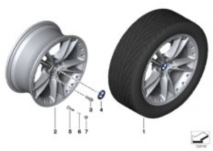 BMW LA wheel, V-spoke 294